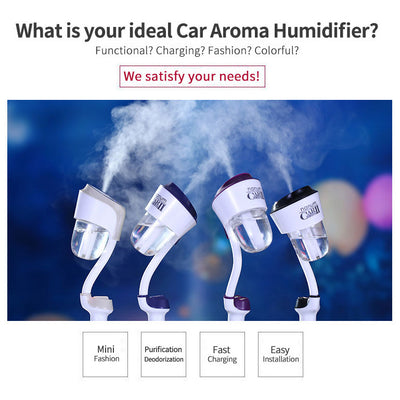 Evisnic 12V Dual USB Charger Car Humidifier