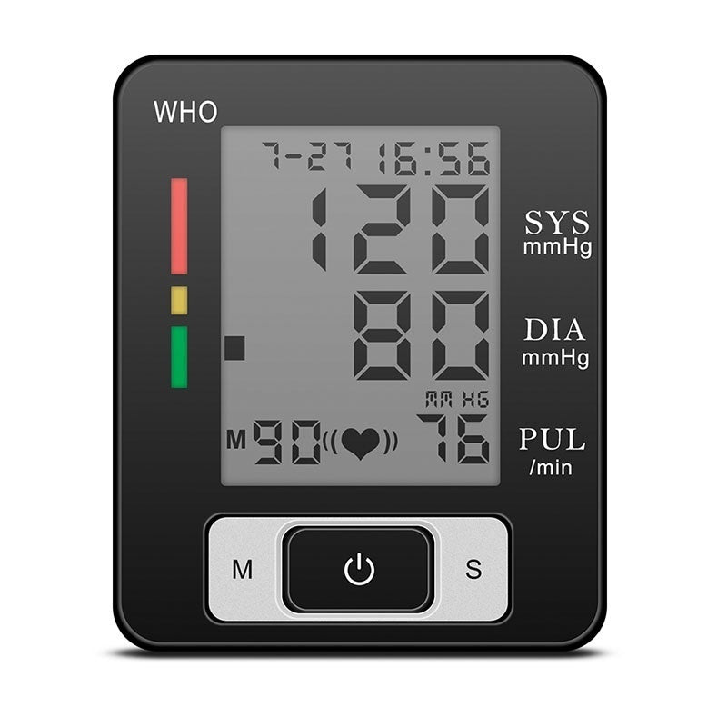 Portable Wrist Automatic Blood Pressure Monitor Health Care Digital Sphygmomanometer