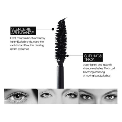 2 In 1 Double Adjustable Quantity Makeup Mascara Warped Waterproof and Shading
