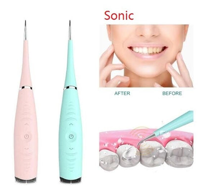 Portable Electric Sonic Dental Health Hygiene white tooth tool