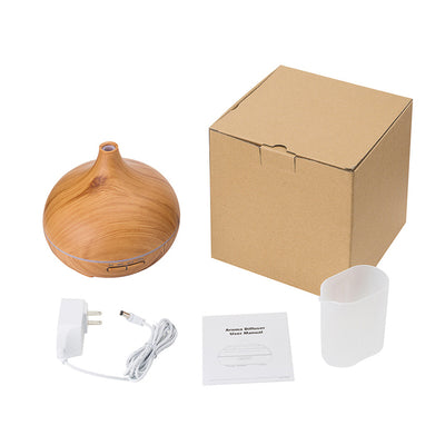 Evisnic 300ml Wood Grain Essential Oil Diffuser