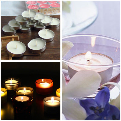 Evisnic Set of 50 Tea Light Candles