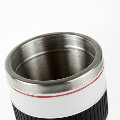Stainless Steel Camera Large Lens Mug
