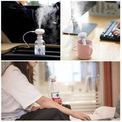White Dismountable USB Ultrasonic Humidifier