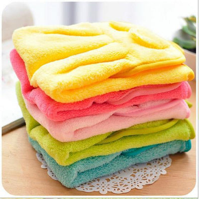 Cute Animal Soft Coral Velvet Kitchen Towel