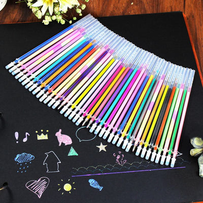 24/48 pcs/lot Party Fluorescent Gel Pen Refills