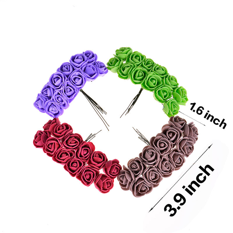 144pcs 2cm Mini Foam Rose Artificial Flower
