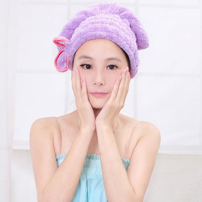 Solid Bathing Quickly Dry Hair Hat