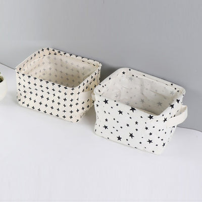 High Quality Cotton Linen Desktop Storage Basket