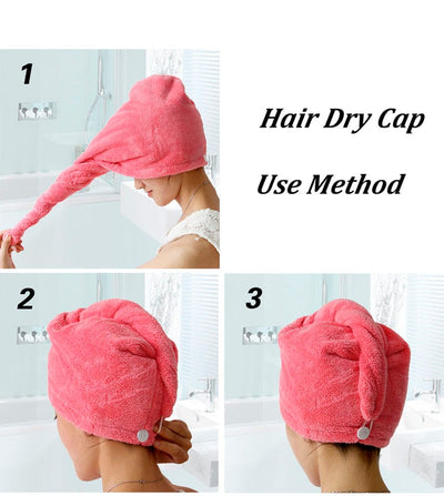Bathroom Quick Dry Microfiber Hair Towel