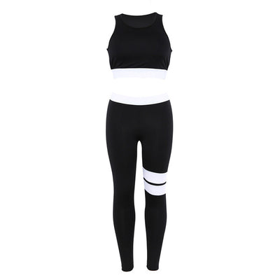 Women Tracksuit Solid Fitness Yoga Set