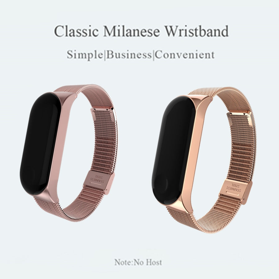 Wrist Strap Stainless Steel For Xiaomi Mi Band 3