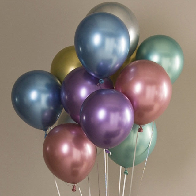 10pcs 12inch New Glossy Metal Pearl Latex Balloons