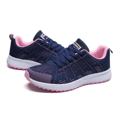Women Lace-Up Mesh Sneakers