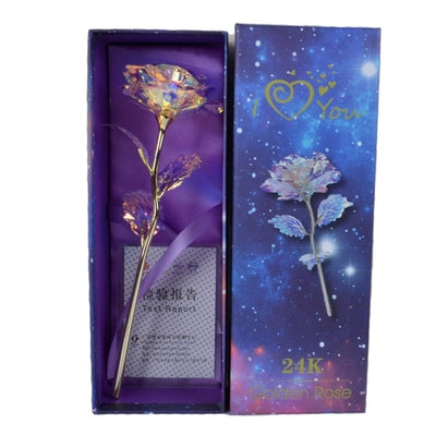Valentine's Day Creative Gift 24K Foil Plated Rose