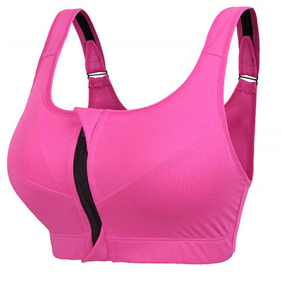 Zipper Push Up Sports Vest Bras