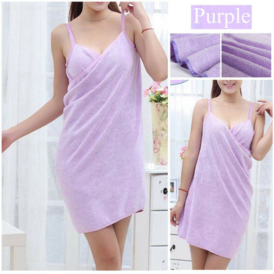 Women Robes Bath Wearable Towel Dress