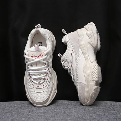 Women Thick Sole Mesh Chunky Sneakers