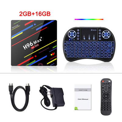 H96 MAX Plus 4K Youtube Netflix Google Play  TV Box