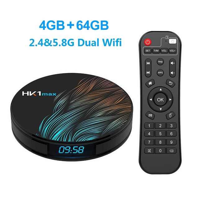 HK1 Max Smart TV Box Android 9.0 4K Wifi Google Play Netflix