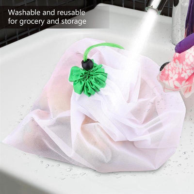12Pcs Reusable Mesh Produce Bags Washable Bags