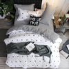 Simple Style Linen Duvet Cover Flat Sheet Bedding Set