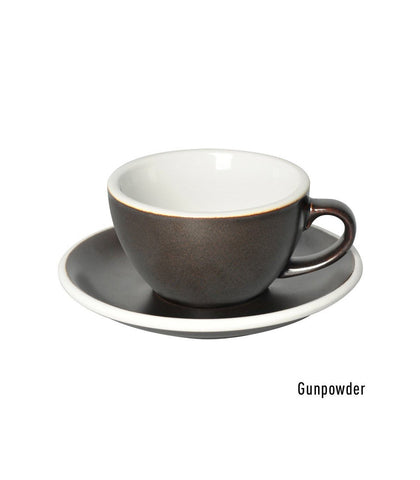 Loveramics Egg Flat White Cup & Saucer 150ml - Gun Powder