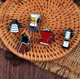 5PCS/SET COFFEE BARISTA PINS ACCESSORIES BROOCHES COSPLAY SMALL DECORATION - Saraya Coffee Roasters