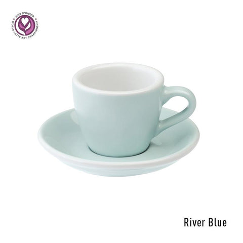 Loveramics Egg Espresso Cup & Saucer 80ml -River Blue