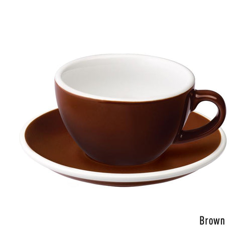 Loveramics Egg Cappuccino & Saucer 200ml - Brown