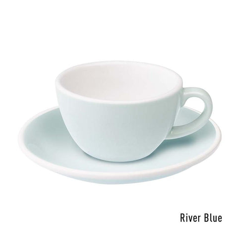 Loveramics  Egg Flat White Cup & Saucer 150ml - River Blue