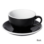 Loveramics Egg Latte & Saucer 250ml - Black