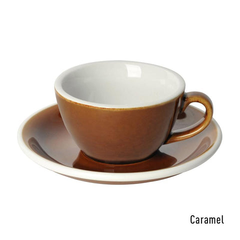 Loveramics  Egg Flat White Cup & Saucer 150ml - Caramel
