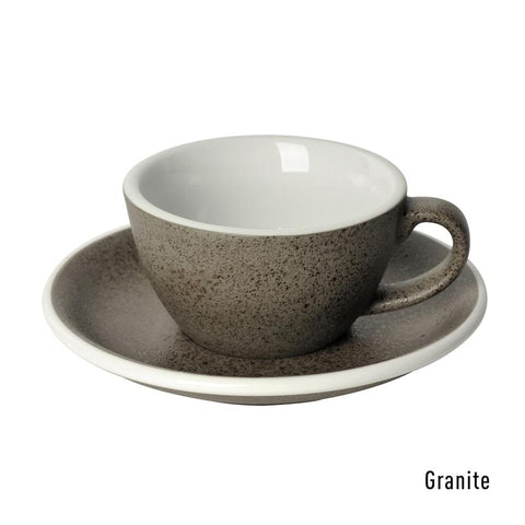 Loveramics Egg Flat White Cup & Saucer 150ml - Granite