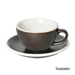Loveramics Egg Cappuccino & Saucer 200ml - Gun Powder