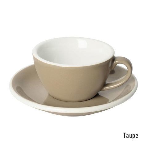Loveramics  Egg Flat White Cup & Saucer 150ml - Taupe