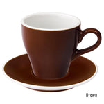 Loveramics Tulip Latte Cup & Saucer 280ml - Brown