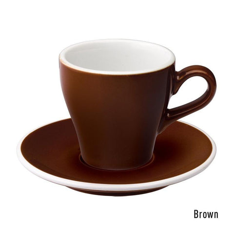 Loveramics Tulip Cappuccino Cup & Saucer 180ml - Brown