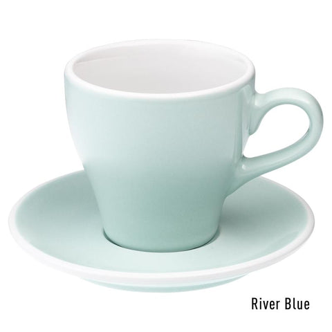 Loveramics Tulip Latte Cup & Saucer 280ml - River Blue