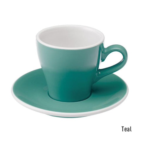Loveramics Tulip Cappuccino Cup & Saucer 180ml - Teal