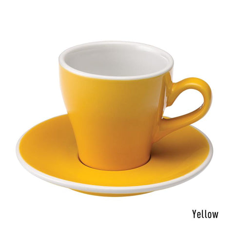 Loveramics Tulip Cappuccino Cup & Saucer 180ml - Yellow