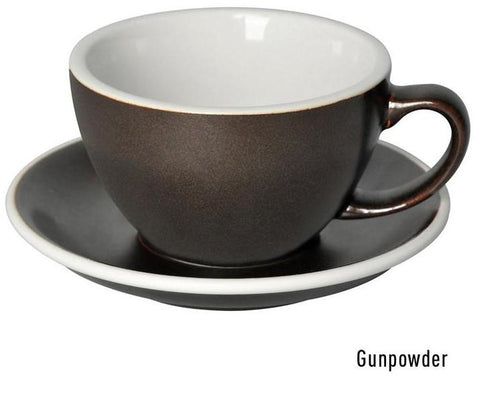 Loveramics Egg Latte Cup + Saucer 250ml - Gun Powder