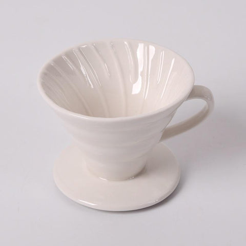Saraya Ceramic Dripper V02 - White