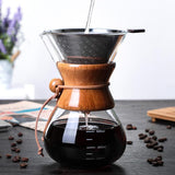 Saraya Chemex Style Pour Over Coffeemaker w/ Steel Filter - 600ml