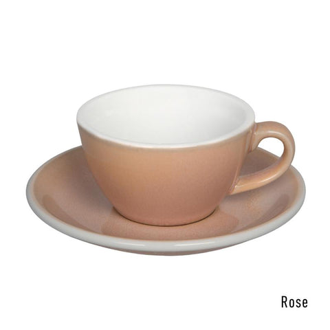 Loveramics  Egg Flat White Cup & Saucer 150ml - Rose