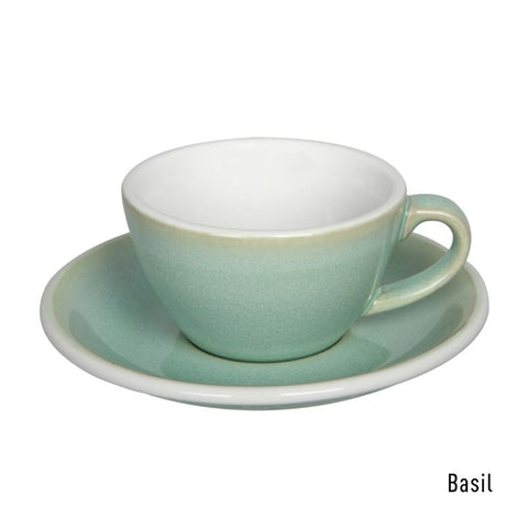 Loveramics  Egg Flat White Cup & Saucer 150ml - Basil