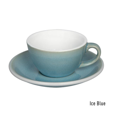 Loveramics  Egg Flat White Cup & Saucer 150ml - Ice Blue