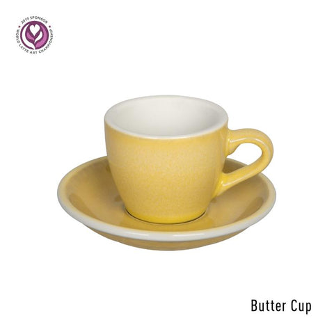 Loveramics Egg Espresso Cup & Saucer 80ml -Butter Cup