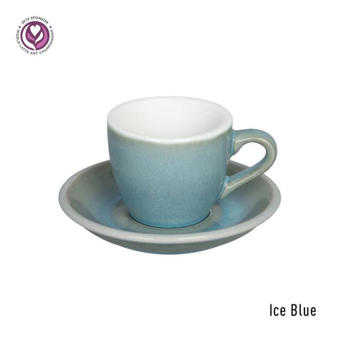 Loveramics Egg Espresso Cup & Saucer 80ml - Ice Blue