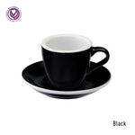 Loveramics Egg Espresso Cup & Saucer 80ml -Black